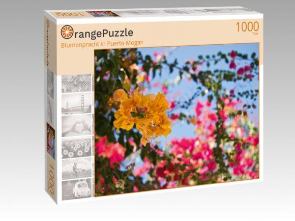 "Puzzle Motiv ""Blumenpracht in Puerto Mogan"" - Puzzle-Schachtel zu 1000 Teile Puzzle"