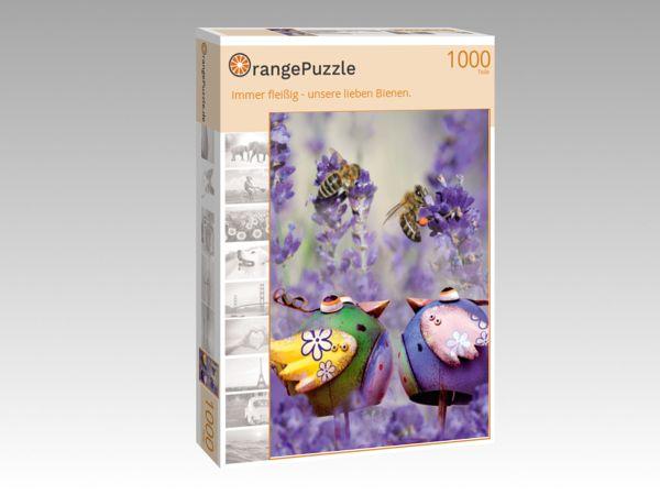 """Puzzle Motiv """"Immer fleißig - unsere lieben Bienen."""" - Puzzle-Schachtel zu 1000 Teile Puzzle"""
