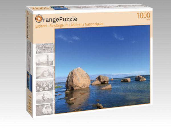 """Puzzle Motiv """"Estland - Findlinge im Lahemma Nationalpark"""" - Puzzle-Schachtel zu 1000 Teile Puzzle"""