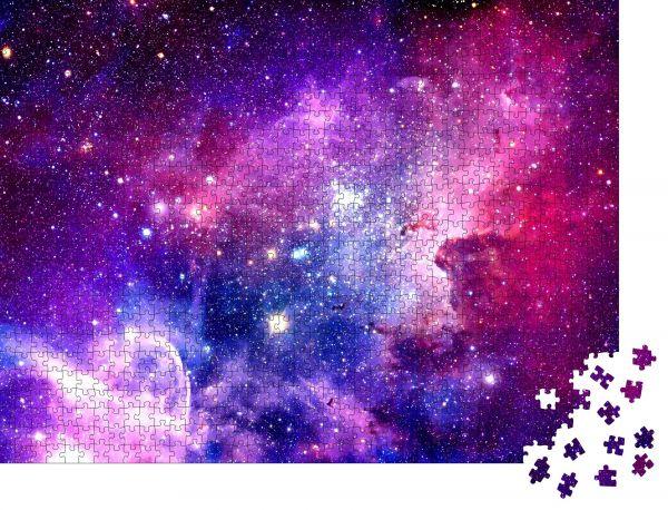 """Puzzle-Motiv """"Berstende Galaxie - Elemente dieses von der NASA eingerichteten Bildes"""" - Puzzle-Teile zu 1000 Teile Puzzle"""