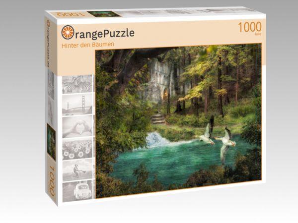 "Puzzle Motiv ""Hinter den Bäumen"" - Puzzle-Schachtel zu 1000 Teile Puzzle"