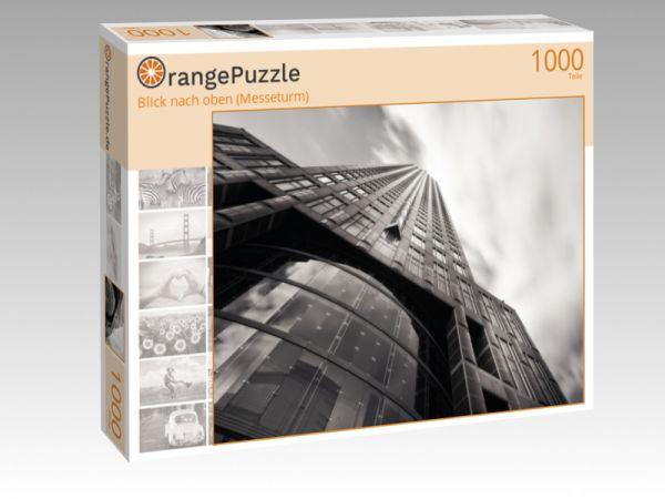 """Puzzle Motiv """"Blick nach oben (Messeturm)"""" - Puzzle-Schachtel zu 1000 Teile Puzzle"""