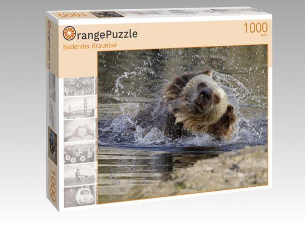 """Puzzle Motiv """"Badender Braunbär"""" - Puzzle-Schachtel zu 1000 Teile Puzzle"""