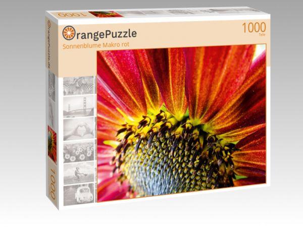 """Puzzle Motiv """"Sonnenblume Makro rot"""" - Puzzle-Schachtel zu 1000 Teile Puzzle"""