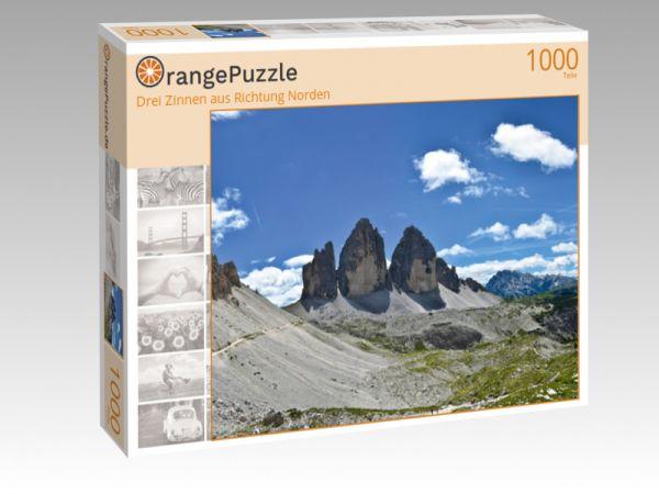 "Puzzle Motiv ""Drei Zinnen aus Richtung Norden"" - Puzzle-Schachtel zu 1000 Teile Puzzle"