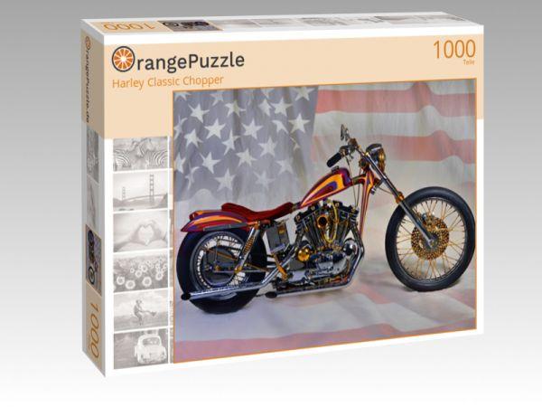 """Puzzle Motiv """"Harley Classic Chopper"""" - Puzzle-Schachtel zu 1000 Teile Puzzle"""
