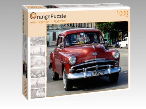 """Puzzle Motiv """"""""Auto-Legenden -  PLYMOUTH"""""""" - Puzzle-Schachtel zu 1000 Teile Puzzle"""