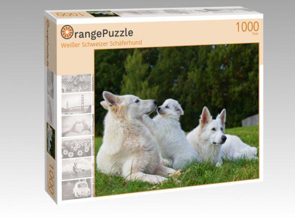 """Puzzle Motiv """"Weißer Schweizer Schäferhund"""" - Puzzle-Schachtel zu 1000 Teile Puzzle"""