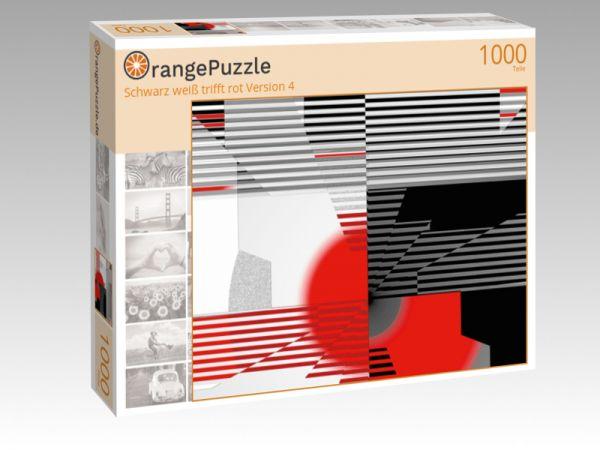 """Puzzle Motiv """"Schwarz weiß trifft rot Version 4"""" - Puzzle-Schachtel zu 1000 Teile Puzzle"""