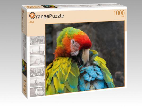"""Puzzle Motiv """"Ara"""" - Puzzle-Schachtel zu 1000 Teile Puzzle"""