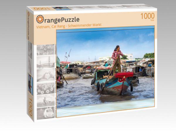 """Puzzle Motiv """"Vietnam, Cai Rang - Schwimmender Markt"""" - Puzzle-Schachtel zu 1000 Teile Puzzle"""