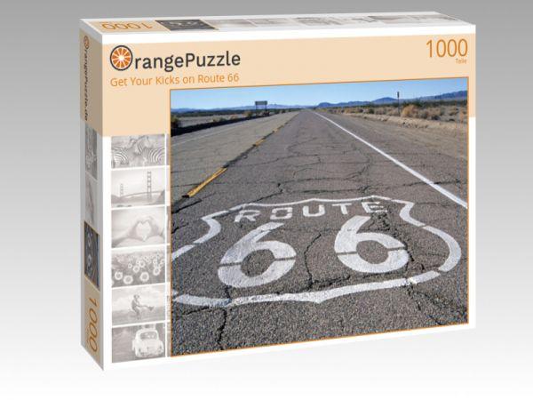 """Puzzle Motiv """"Get Your Kicks on Route 66"""" - Puzzle-Schachtel zu 1000 Teile Puzzle"""