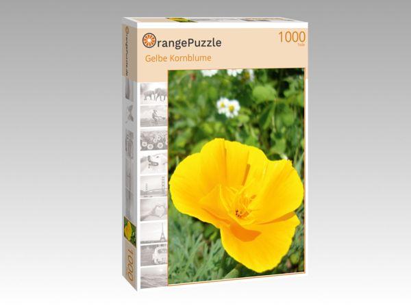 """Puzzle Motiv """"Gelbe Kornblume"""" - Puzzle-Schachtel zu 1000 Teile Puzzle"""