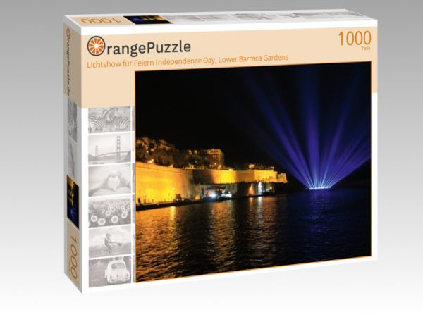 """Puzzle Motiv """"Lichtshow für Feiern Independence Day, Lower Barraca Gardens"""" - Puzzle-Schachtel zu 1000 Teile Puzzle"""
