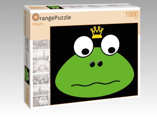 """Puzzle Motiv """"Fröschi"""" - Puzzle-Schachtel zu 1000 Teile Puzzle"""