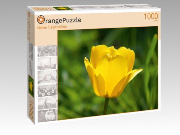 """Puzzle Motiv """"Gelbe Tulpenblüte"""" - Puzzle-Schachtel zu 1000 Teile Puzzle"""