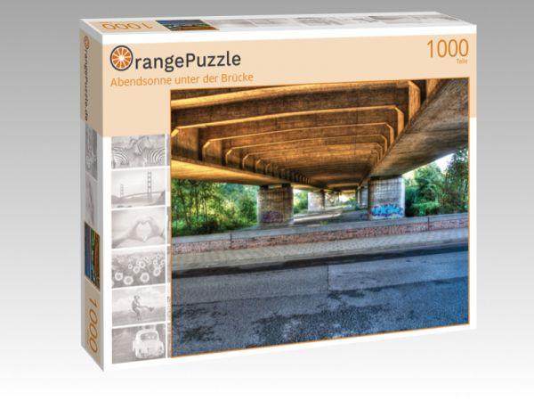 "Puzzle Motiv ""Abendsonne unter der Brücke"" - Puzzle-Schachtel zu 1000 Teile Puzzle"