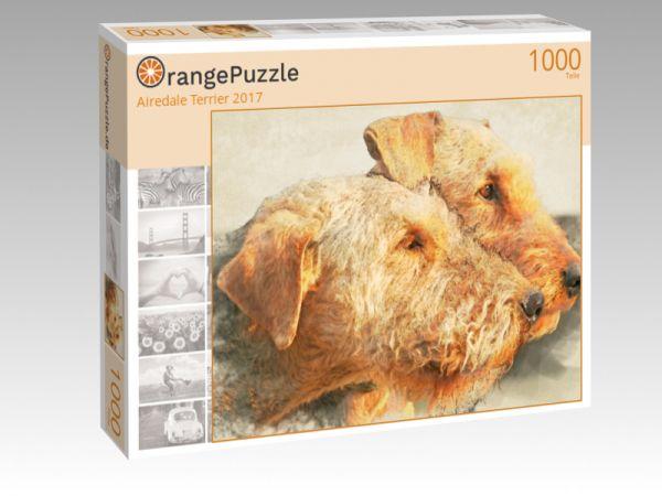 """Puzzle Motiv """"Airedale Terrier 2017"""" - Puzzle-Schachtel zu 1000 Teile Puzzle"""
