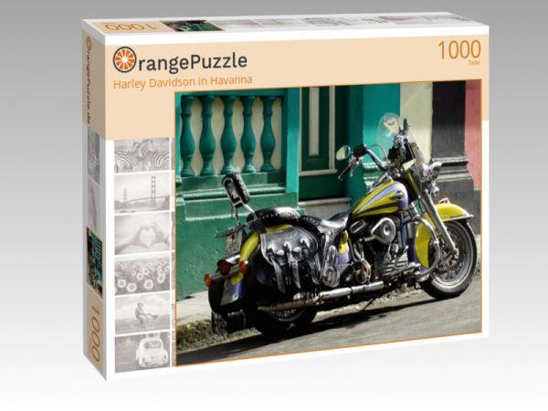 """Puzzle Motiv """"Harley Davidson in Havanna"""" - Puzzle-Schachtel zu 1000 Teile Puzzle"""