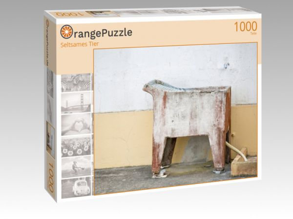 """Puzzle Motiv """"Seltsames Tier"""" - Puzzle-Schachtel zu 1000 Teile Puzzle"""