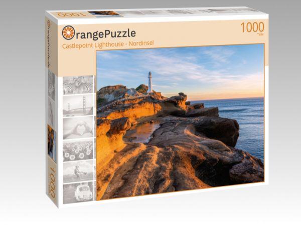 """Puzzle Motiv """"Castlepoint Lighthouse - Nordinsel"""" - Puzzle-Schachtel zu 1000 Teile Puzzle"""