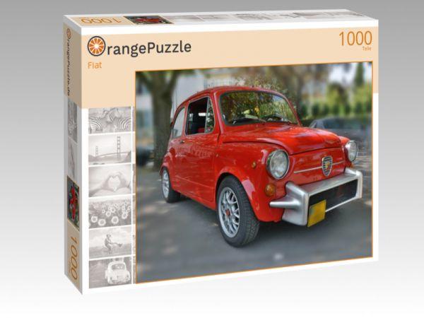"""Puzzle Motiv """"Fiat"""" - Puzzle-Schachtel zu 1000 Teile Puzzle"""