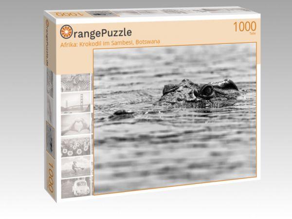 """Puzzle Motiv """"Afrika: Krokodil im Sambesi, Botswana"""" - Puzzle-Schachtel zu 1000 Teile Puzzle"""