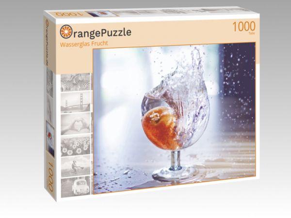 "Puzzle Motiv ""Wasserglas Frucht"" - Puzzle-Schachtel zu 1000 Teile Puzzle"
