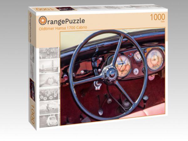 "Puzzle Motiv ""Oldtimer Hansa 1700 Cabrio"" - Puzzle-Schachtel zu 1000 Teile Puzzle"
