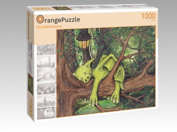 """Puzzle Motiv """"Drachenträume"""" - Puzzle-Schachtel zu 1000 Teile Puzzle"""