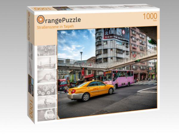 """Puzzle Motiv """"Straßenszene in Taipeh"""" - Puzzle-Schachtel zu 1000 Teile Puzzle"""