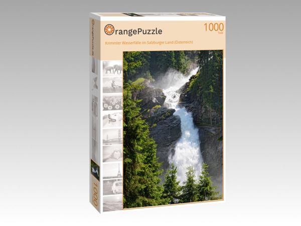 """Puzzle Motiv """"Krimmler Wasserfälle im Salzburger Land (Österreich)"""" - Puzzle-Schachtel zu 1000 Teile Puzzle"""