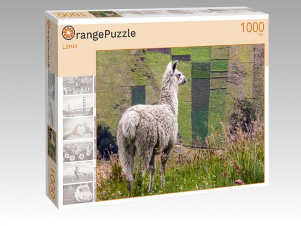 """Puzzle Motiv """"Lama"""" - Puzzle-Schachtel zu 1000 Teile Puzzle"""