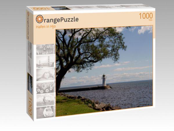 """Puzzle Motiv """"Hafen in Hjo"""" - Puzzle-Schachtel zu 1000 Teile Puzzle"""