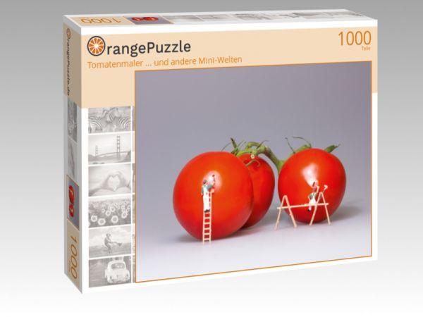 """Puzzle Motiv """"Tomatenmaler ... und andere Mini-Welten"""" - Puzzle-Schachtel zu 1000 Teile Puzzle"""