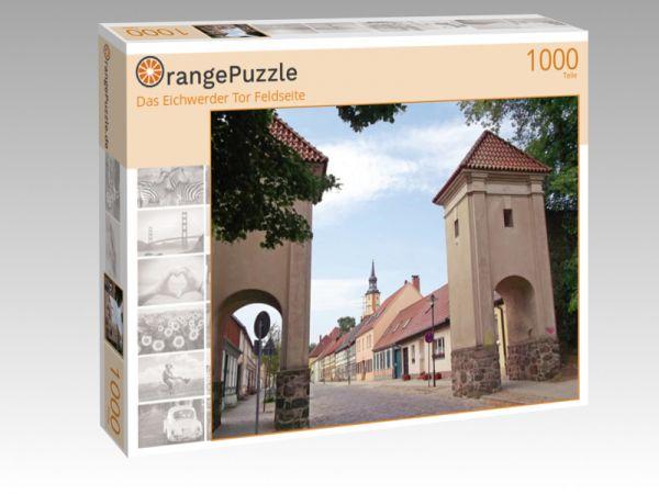 """Puzzle Motiv """"Das Eichwerder Tor Feldseite"""" - Puzzle-Schachtel zu 1000 Teile Puzzle"""