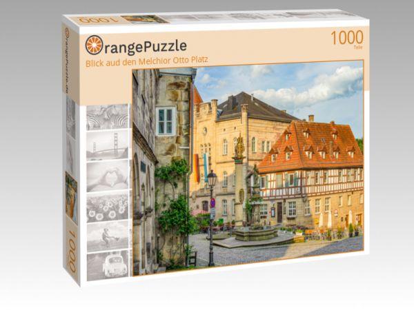 """Puzzle Motiv """"Blick aud den Melchior Otto Platz"""" - Puzzle-Schachtel zu 1000 Teile Puzzle"""