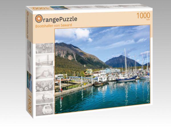 """Puzzle Motiv """"Bootshafen von Seward"""" - Puzzle-Schachtel zu 1000 Teile Puzzle"""
