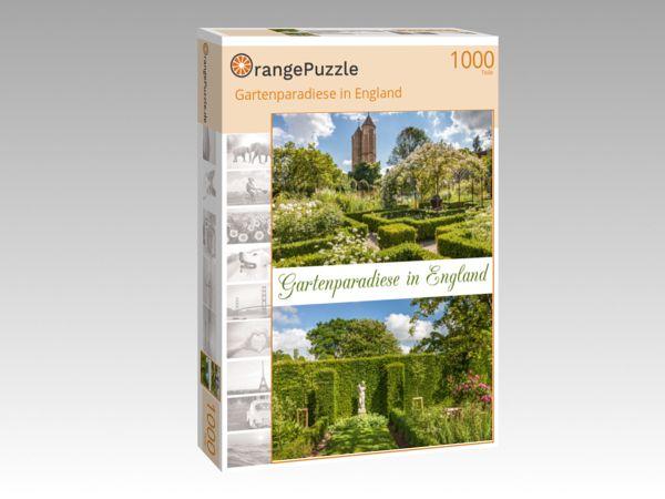"""Puzzle Motiv """"Gartenparadiese in England"""" - Puzzle-Schachtel zu 1000 Teile Puzzle"""