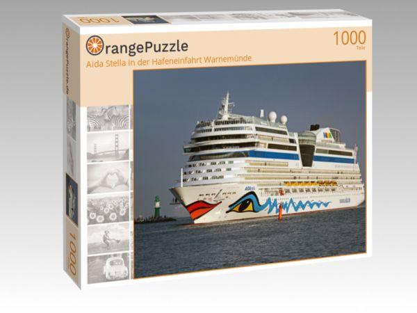 """Puzzle Motiv """"Aida Stella in der Hafeneinfahrt Warnemünde"""" - Puzzle-Schachtel zu 1000 Teile Puzzle"""