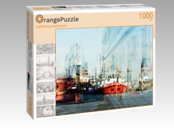 "Puzzle Motiv ""Hafenimpressionen"" - Puzzle-Schachtel zu 1000 Teile Puzzle"