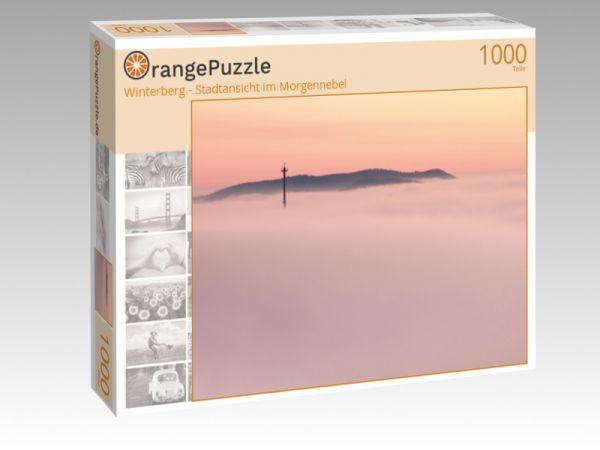 """Puzzle Motiv """"Winterberg - Stadtansicht im Morgennebel"""" - Puzzle-Schachtel zu 1000 Teile Puzzle"""