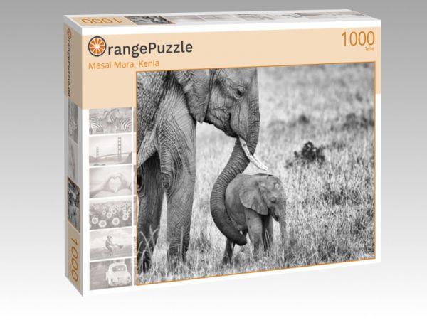 "Puzzle Motiv ""Masai Mara, Kenia"" - Puzzle-Schachtel zu 1000 Teile Puzzle"