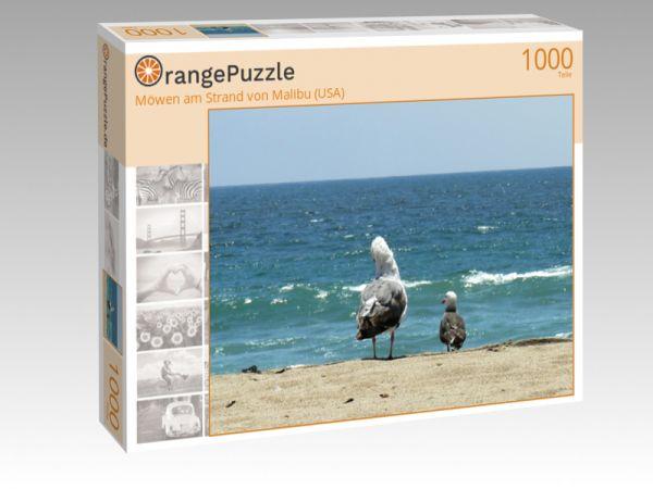 """Puzzle Motiv """"Möwen am Strand von Malibu (USA)"""" - Puzzle-Schachtel zu 1000 Teile Puzzle"""