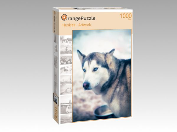 "Puzzle Motiv ""Huskies - Artwork"" - Puzzle-Schachtel zu 1000 Teile Puzzle"