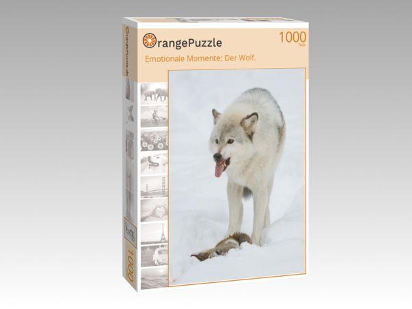 """Puzzle Motiv """"Emotionale Momente: Der Wolf."""" - Puzzle-Schachtel zu 1000 Teile Puzzle"""