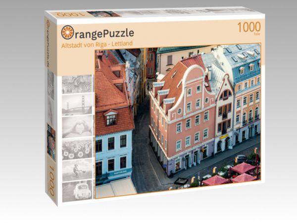 """Puzzle Motiv """"Altstadt von Riga - Lettland"""" - Puzzle-Schachtel zu 1000 Teile Puzzle"""