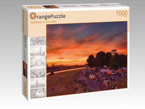 "Puzzle Motiv ""Stadtfest in Dresden"" - Puzzle-Schachtel zu 1000 Teile Puzzle"