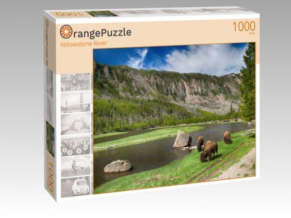 """Puzzle Motiv """"Yellowstone River"""" - Puzzle-Schachtel zu 1000 Teile Puzzle"""