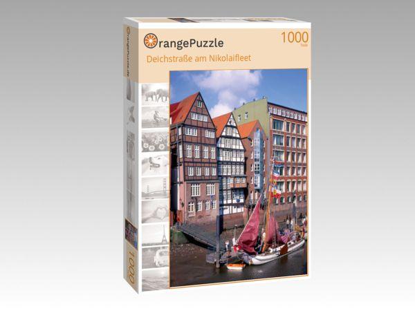 """Puzzle Motiv """"Deichstraße am Nikolaifleet"""" - Puzzle-Schachtel zu 1000 Teile Puzzle"""